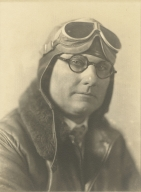 Allan Hancock in aviator gear