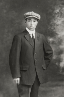 "Yoshio Nagano when he came to Morro Bay from Japan : 1912. He took the American name of ""George."""