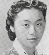 "Miyoko Iwamoto, Lompoc High School, Class of 1939. Miyoko was known as ""Miyo."" Her family was among those who were evacuated from the California coast in 1942."