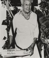 "Olga Bolgoyne, ""Cigarette Girl,"" Old Colonial House, Oxnard : early 1940s."