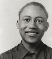 Bedford Pinkard in Wilson Junior High School, Oxnard : 1945 ; a resident of Ventura County since 1942, Bedford Pinkard was installed as the first African-American elected to the Oxnard City Council in November 1992.