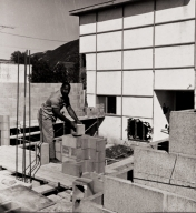 Reverend Luther McCurtis, the Church of God in Christ ; Reverend McCurtis builds his own church, 660 N. Ventura Avenue, Ventura : March 30, 1965.