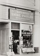 Louden Gatewood's Shine Parlor, 100 block of East Main Street, Santa Maria : 1936.
