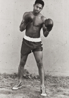Manuel Hamilton, middle weight boxing contender, Santa Maria High School : 1949.
