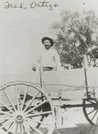Alfredo Ortega on wagon.