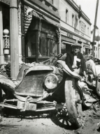 Santa Barbara 1925 Earthquake Damage - Crushed Car