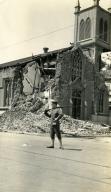 Santa Barbara 1925 Earthquake Damage - Our Lady of Sorrows Church
