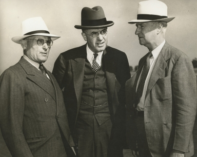 Capt. G. Allan Hancock, Chairman C.L. Preisker, General Thomas M. Robins