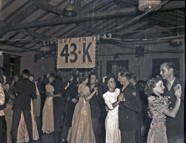 Graduation dance for Hancock College of Aeronautics cadets, 1943