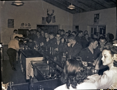 Hancock College of Aeronautics cadets at a bar