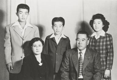 Taniguchi Family picture, Santa Maria : 1941. Mitsuo, Somio, Michiko and Mr. and Mrs. George (Ichitaro).