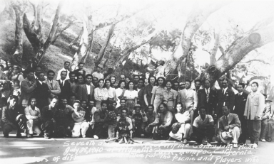 Seventh Annual Lompoc Filipino Community Picnic, Miguelito Park, Lompoc : July 28, 1940. Present is the Honorable Francisco Varona, Labor Comissioner and head of the National Division at the Resident Comissioner's office in Washington, D. C.