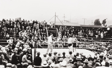 Filipino boxing matches : Pismo Beach : about 1930.