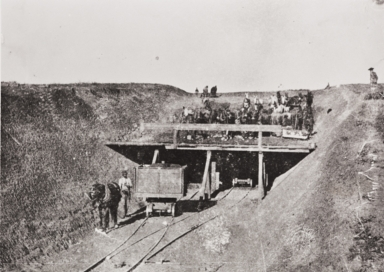 Building the railroad from surf to Gaviota was no easy task for the Chinese brought here to accomplish the job.