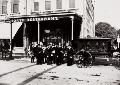 Funeral of L.Y. Ito : Tokyo Restaurant, 426 State St., Santa Barbara : early 1900s.