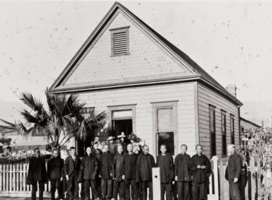 Chinese Congregational Church : 1006 Chapala Street, Santa Barbara ; Mr. McKinley, osteopath, was Sunday School teacher.