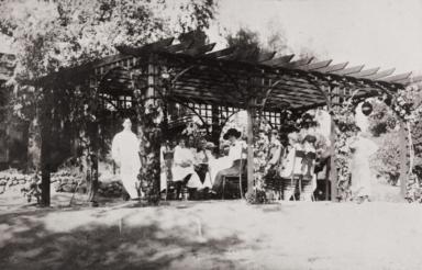 Tokutaro Moriwaki (left), chauffeur/handyman for the Abram Lincoln Hobson family, Ojai : 1920s.