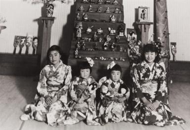 Girl's Day Celebration : Oxnard : March 3, 1936 ; L-R: Yoshie Fujita Hagiya, Setsuko Umeda, Mae Kurihara Moriwaki and Fuki Tokuyama Mori.