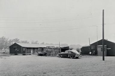 Former Santa Maria airbase living quarters used as farm labor camp for blacks : 1950.