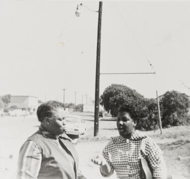 Vera Wilson and Rasaile Kindles, 1128 W. Cypress, Santa Maria : 1964.