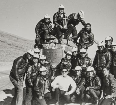 Phil Wilson with the Santa Maria Satellite Motorcycle Team : 1960.