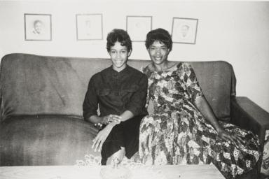 Vonnie and Lonnie Hamilton, Nipomo : 1960.