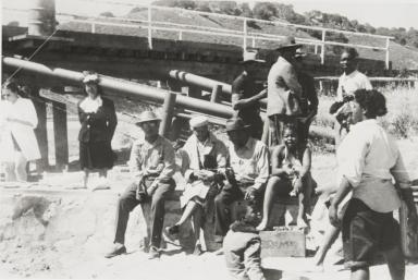 A gathering at Avila Beach : 1945.