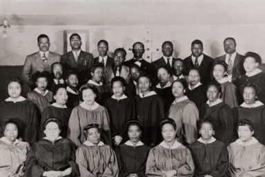 Combined choir of old St. Paul Baptist Church, Oxnard, and Olivet Baptist Church, Ventura : 1946.