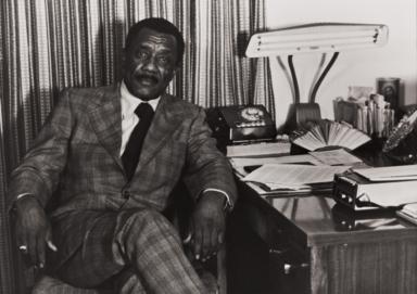 Reverend Emmett Hunter, pastor of the Olivet Baptist Church, Ventura : in the 1970s.