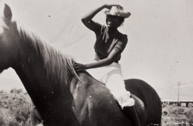 Juanita Prince at Illif Ranch, Santa Maria : 1953.