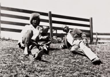 Ranch off Highway 166, Santa Maria : 1955. Juanita Prince, Eddie Mae Foster and Milton Jones.