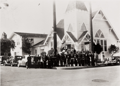 St. Paul A.M.E. Church at 502 Olive Street in Santa Barbara.