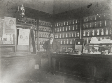"""Doc Cota, clerk at the Marquis Drug Store."