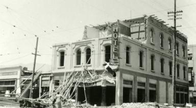 Santa Barbara 1925 Earthquake Damage - Faulding Hotel
