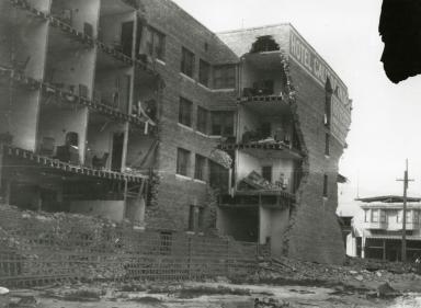 Santa Barbara 1925 Earthquake Damage - Hotel Californian