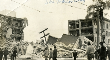 Santa Barbara 1925 Earthquake Damage - San Marcos Building