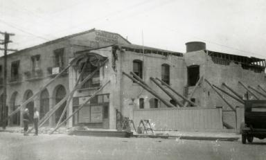 Santa Barbara 1925 Earthquake Damage - Santa Barbara Telephone Company