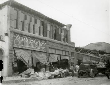 Santa Barbara 1925 Earthquake Damage - Carrillo Street