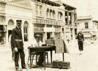 Santa Barbara 1925 Earthquake Damage - Telegraph Operator