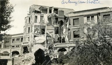 Santa Barbara 1925 Earthquake Damage - Arlington Hotel