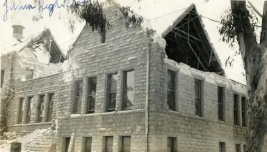 Santa Barbara 1925 Earthquake Damage - Santa Barbara Junior High School