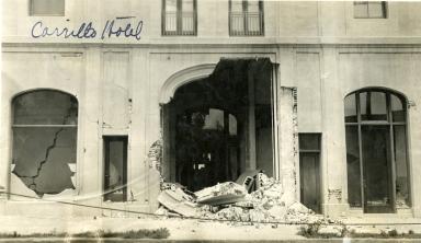 Santa Barbara 1925 Earthquake Damage - Carrillo Hotel