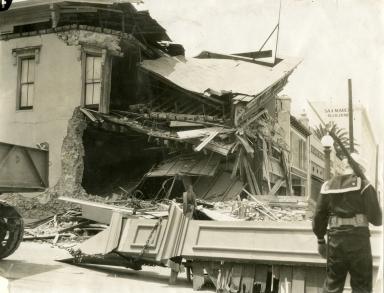 Santa Barbara 1925 Earthquake Damage - 1100 Block State Street