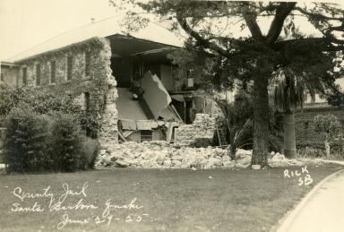 Santa Barbara 1925 Earthquake Damage - County Jail