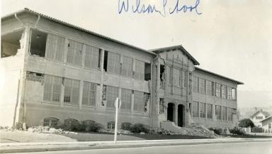 Santa Barbara 1925 Earthquake Damage - Wilson School