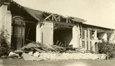 Santa Barbara 1925 Earthquake Damage - Santa Barbara Public Library