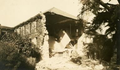 Santa Barbara 1925 Earthquake Damage - Santa Barbara County Courthouse Jail