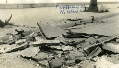 Santa Barbara 1925 Earthquake Damage - Pavement at West Boulevard