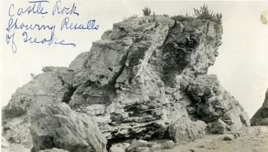 Santa Barbara 1925 Earthquake Damage - Castle Rock, West Beach
