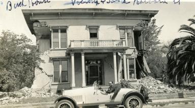 Santa Barbara 1925 Earthquake Damage - Corner of Victoria & Santa Barbara Streets